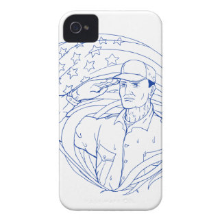 American Soldier Salute Flag Ukiyo-e iPhone 4 Cover