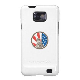 American Soldier Serviceman Bayonet Circle Retro Samsung Galaxy SII Cover