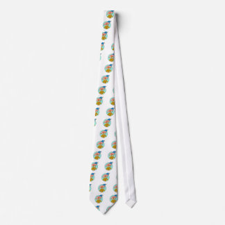 American Soldier Waving USA Flag Circle Drawing Tie