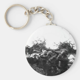 American Soldiers on the Piave Front World War I Basic Round Button Keychain