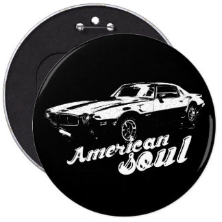 American soul 6 inch round button