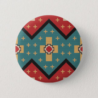 American Southwest Indian Pattern 2 Inch Round Button
