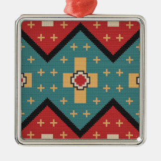 American Southwest Indian Pattern Metal Ornament