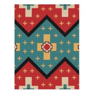 American Southwest Indian Pattern Postcard