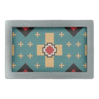 American Southwest Indian Pattern Rectangular Belt Buckle