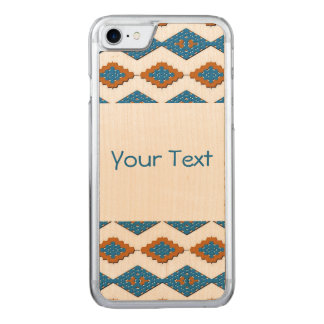 American Southwest Pattern Real Wood iPhone Carved iPhone 8/7 Case
