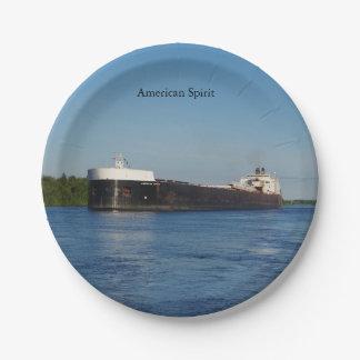 American Spirit paper Plate