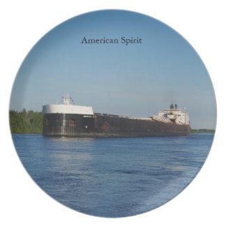American Spirit plate