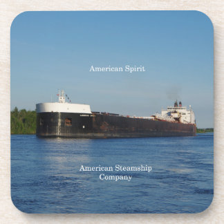 American Spirit set of 6 hard plastic coasters