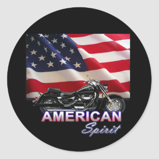 American Spirit TV Motorcycle Show Round Sticker