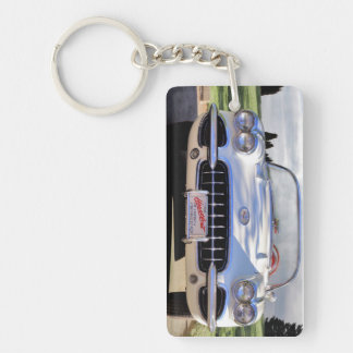 American Sports Car Single-Sided Rectangular Acrylic Keychain