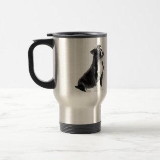 American Staffordshire (black-white) Coffee Mugs