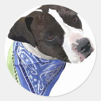 American Staffordshire Terrier-Aggie Classic Round Sticker