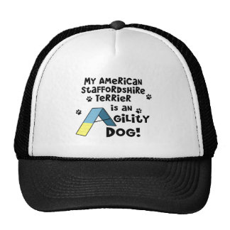 American Staffordshire Terrier Agility Dog Trucker Hat