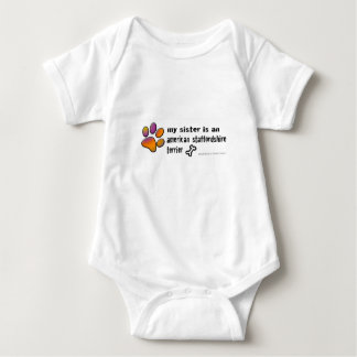 american staffordshire terrier baby bodysuit