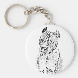 American Staffordshire Terrier Basic Round Button Keychain