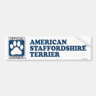 American Staffordshire Terrier Blue Bumper Sticker