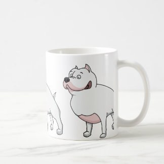 american staffordshire terrier cartoon 2 coffee mug