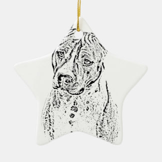 American Staffordshire Terrier Ceramic Star Ornament