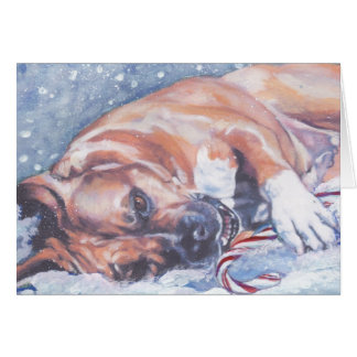 American Staffordshire Terrier Christmas Card
