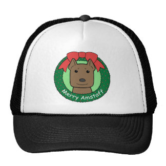 American Staffordshire Terrier Christmas Trucker Hat