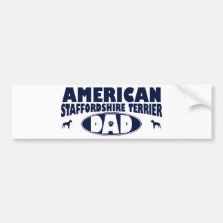 American Staffordshire Terrier Dad Bumper Sticker
