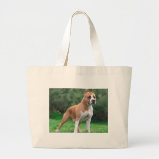 American Staffordshire Terrier Dog Large Tote Bag