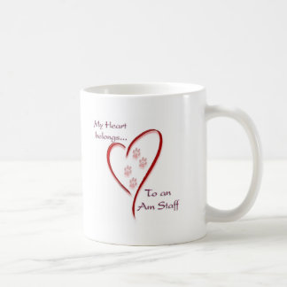 American Staffordshire Terrier Heart Belongs Coffee Mug
