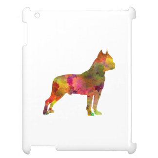American Staffordshire Terrier in watercolor 2 iPad Case
