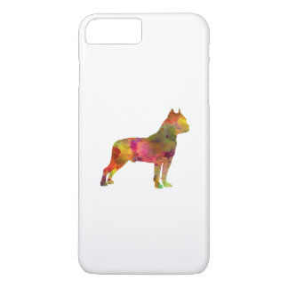 American Staffordshire Terrier in watercolor 2 iPhone 7 Plus Case