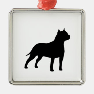american staffordshire terrier metal ornament