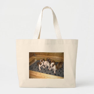American Staffordshire Terrier Puppies Dog Large Tote Bag