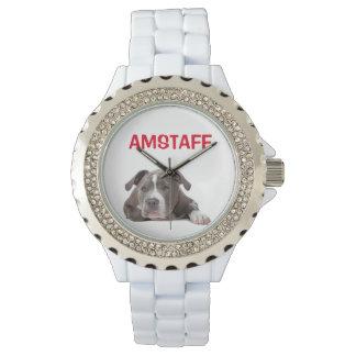 American Staffordshire Terrier Puppy Dog - Amstaff Wrist Watch
