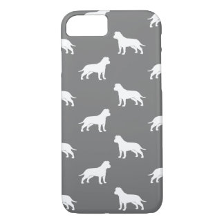 American Staffordshire Terrier Silhouettes Pattern iPhone 7 Case
