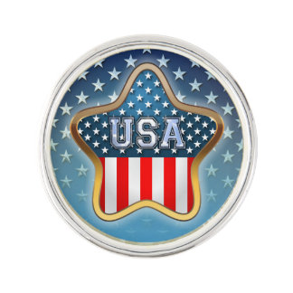 American Star Lapel Pin
