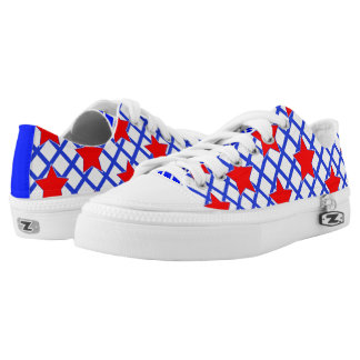 American Stars and Stripes Abstract Pattern Low-Top Sneakers