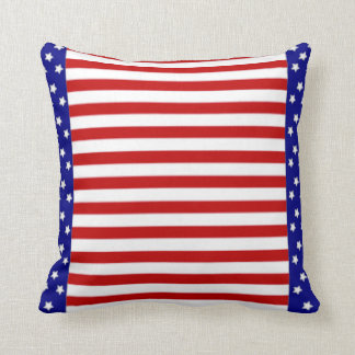 American Stars and Stripes Flag Throw Pillow