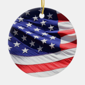 American stars and stripes US flag ornament, gift Ceramic Ornament