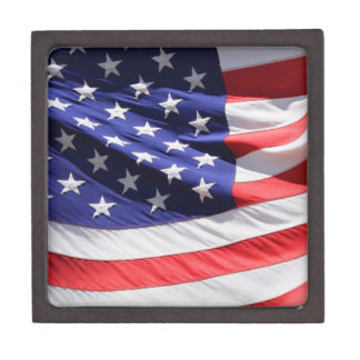 American stars and stripes US flag photo gift box Premium Keepsake Boxes