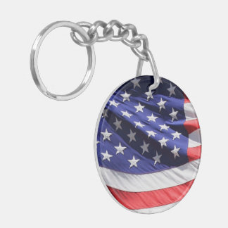 American stars and stripes US flag photo, gift Double-Sided Round Acrylic Keychain