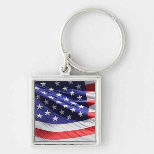 American stars and stripes US flag photo Key Chain