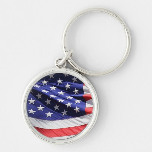 American stars and stripes US flag photo Key Chains
