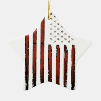 American Stars and stripes Vintage Ceramic Ornament