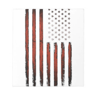 American Stars and stripes Vintage Notepad