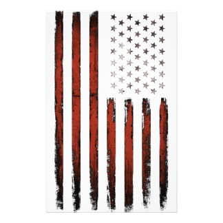 American Stars and stripes Vintage Stationery