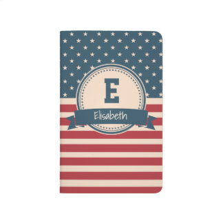 American stars stripes patriotic flag monogram journals