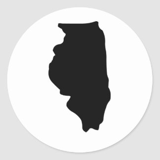 American State of Illinois Classic Round Sticker