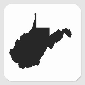 American State of West Virginia Square Sticker