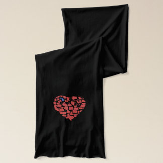 American States Heart Mosaic Michigan Red Scarf