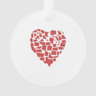 American States Heart Mosaic New Jersey Red